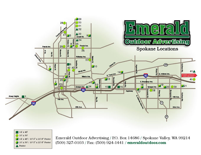 spokane area billboard map